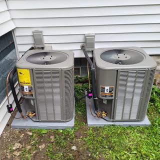 Dual AC install