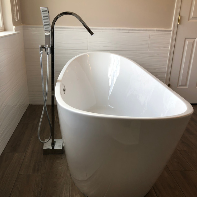 Beautiful tub install