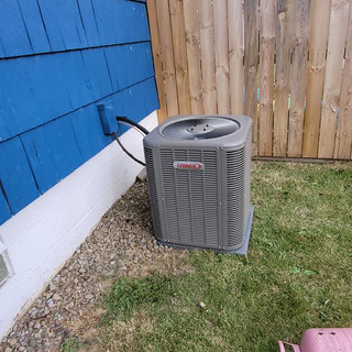 Lennox AC unit install