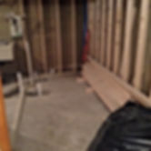 basement remodel inprogess