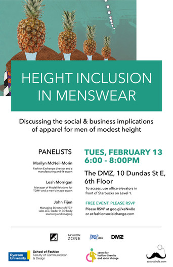 Press Release: Menswear Height Inclusion Panel
