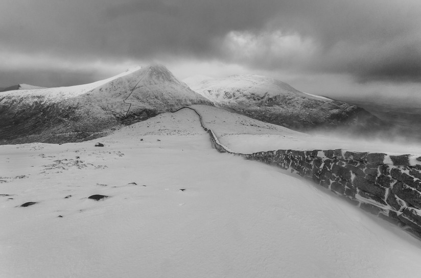 MONO - Wintry Slieve Bernagh by Philip Blair (9 marks)
