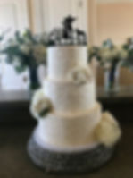 Rustic Buttercream Wedding Cake with Fresh Flowers