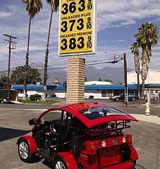 Cruser Sport Filling Up at Gas Station