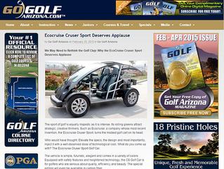 Cruser Sport Featured In Go Golf Arizona