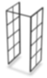 Brusekabine -fritstående brusekabine i nordsik new yorker design