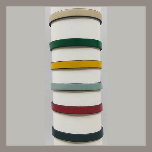 BUEN CAMINO-Pulsera de Piel de beccero colorada, muy alta calidad