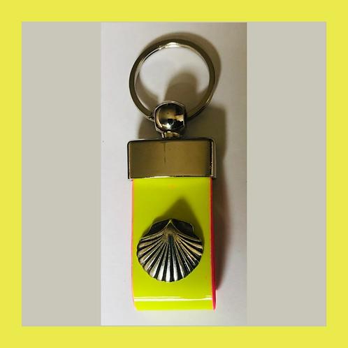 Leder Schlüsselanhänger mit Camino Muschel