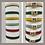 Thumbnail: Pulsera de Piel de beccero colorada, muy alta calidad