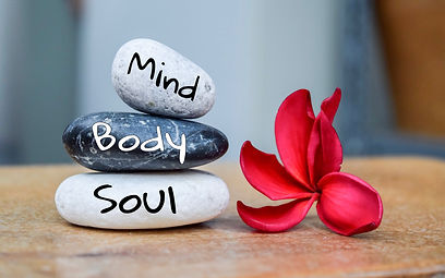 Holistic health concept of zen stones wi