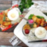 盛り付け直しの#お昼ご飯 でこんにちは😃_._激安のスーパーのお弁当を_盛り付