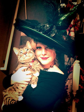 The witch and her cat..jpg