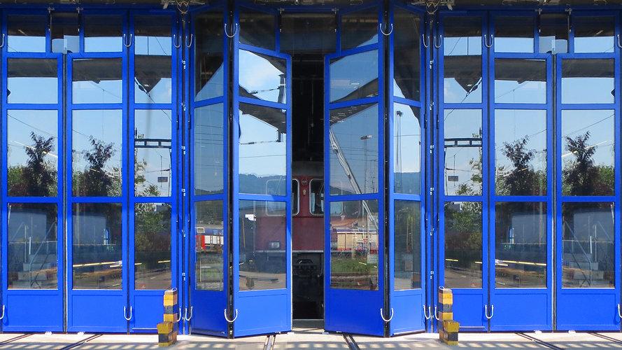 Industrietore Eisenbahn Bahnhof