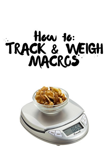 HOW TO TRACK MACROS
