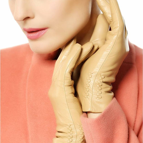 Tan Short Leather Gloves