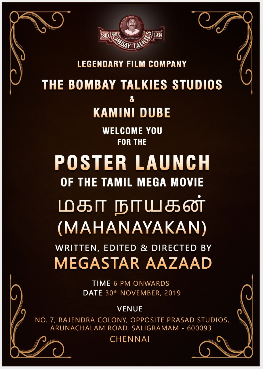 Historical Poster Launch Of Tamil Movie Mahanayakan By Megastar Aazaad In Chennai