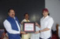 MEGASTAR AAZAAD got Awarded