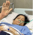 Maharishi Aazaad's mother Hira Devi Dube blessed everyone after her successful operation.
