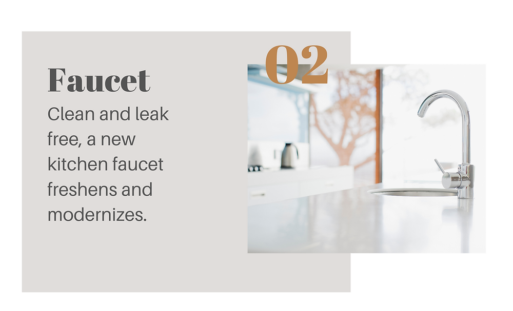 Faucet: clean and leak free, a new kitchen face freshens and modernizes. Chrome kitchen faucet