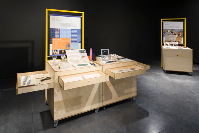 Scénographie Exposition itinérante, Lacq Odyssée, Mourenx