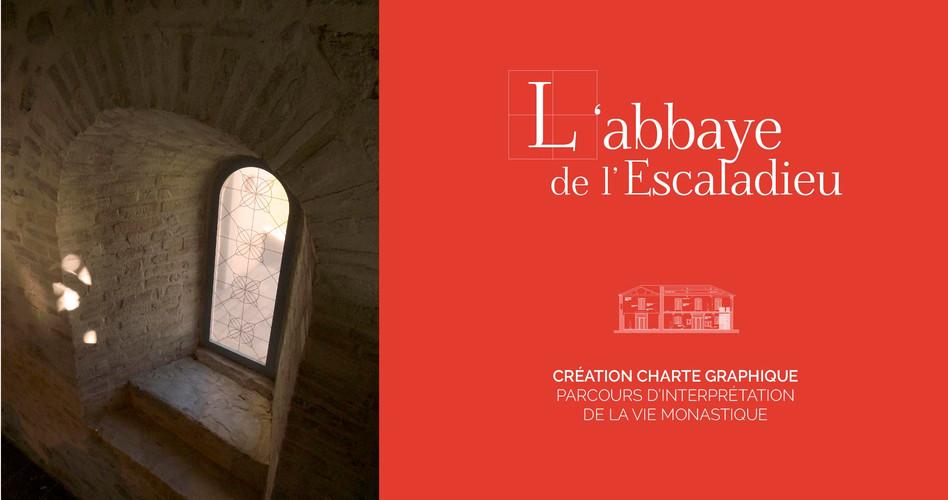 Logotype et Charte graphique, L'abbaye de l'Escaladieu, abbaye cistercienne, Hautes-Pyrénées