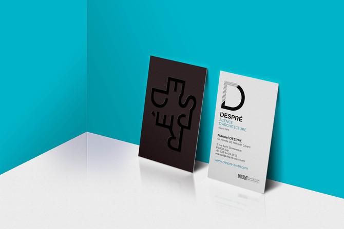 Logotype et Carte de visite pour l'Agence Despré, Architecture et Solutions d'aménagements, Nay