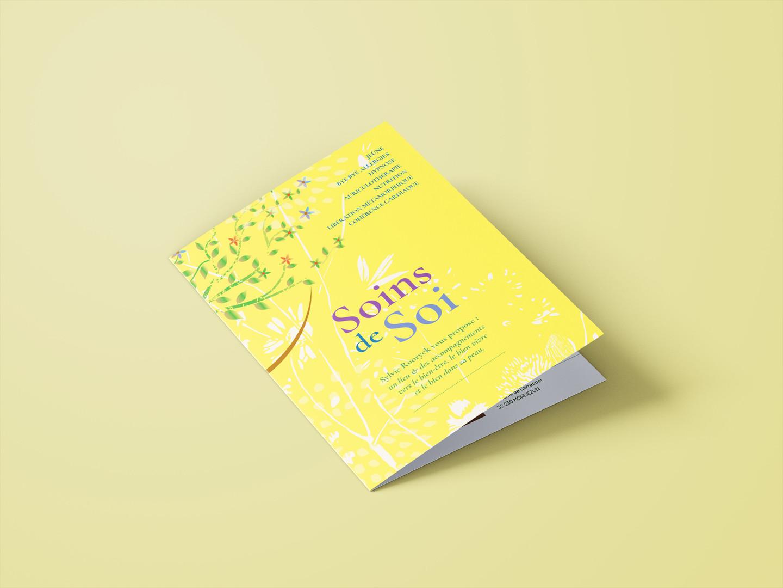 Brochure, Soins de Soi, Un lieu & des accompagnements vers le mieux-être, mieux-manger, mieux-vivre, Marciac