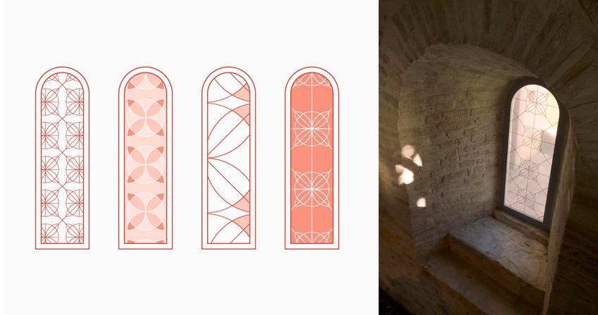 Habillage graphique, L'abbaye de l'Escaladieu, Parcours d'interprétation de la vie monastique, Bonnemason, Hautes-Pyrénées