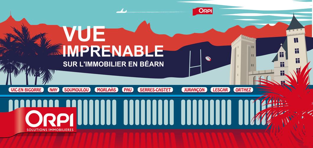 Illustration, aéroport de Pau, espace publicitaire