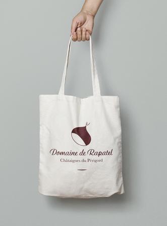 Logotype et produits dérivés pour le Domaine de Rapatel, Artisans autour de la Chataîgne, Périgord