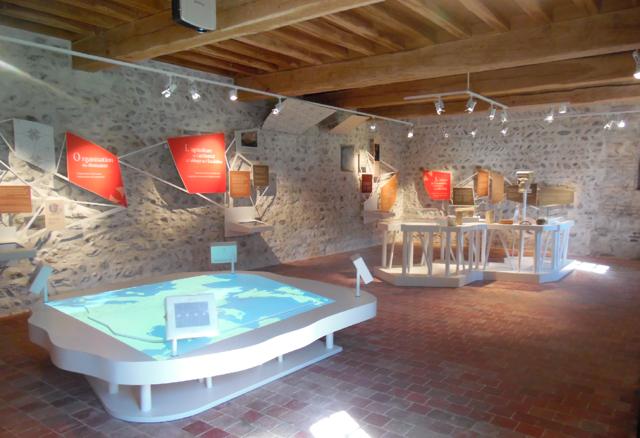 Graphisme exposition, L'abbaye de l'Escaladieu, Parcours d'interprétation de la vie monastique, Bonnemason, Hautes-Pyrénées