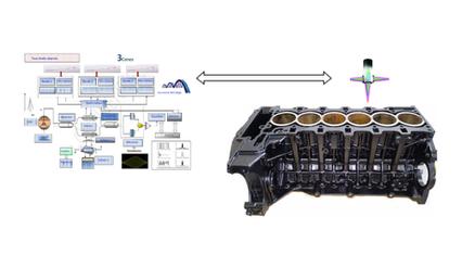 Interféromètre fibré, sonde et moteur