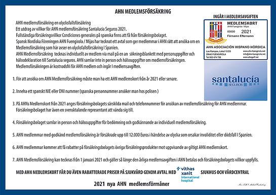 Information om medlemsförsäkring!