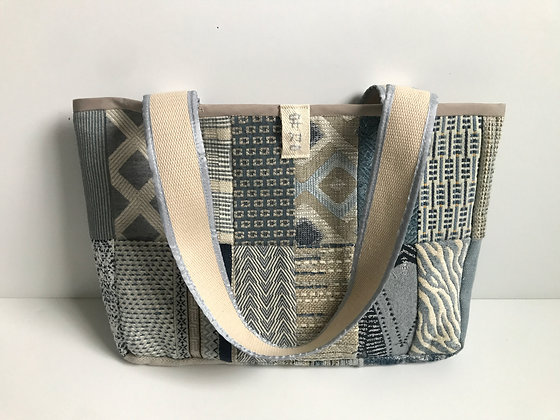 Yu Kyung Patchwork Tote - Baby Blue/Taupe