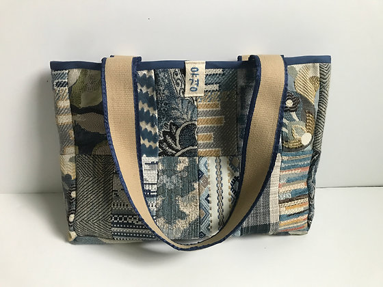Yu Kyung Patchwork Tote - Blue/Tan