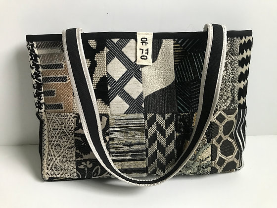 Yu Kyung Patchwork Tote - Black/Tan