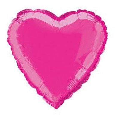 """Balloon Foil 18"""" Heart Hot Pink"""