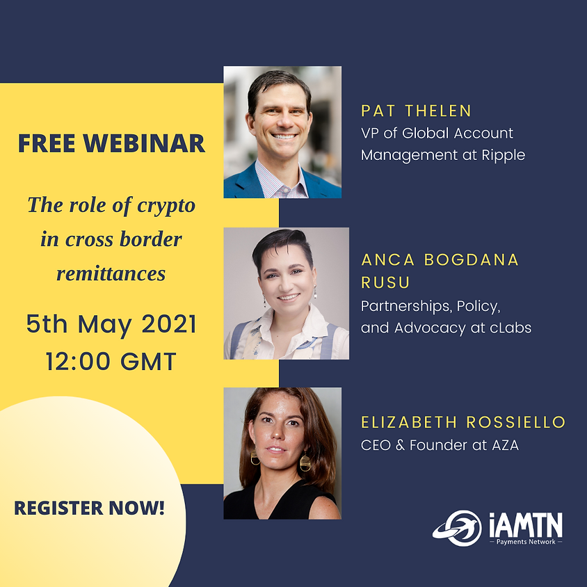Webinar: The role of crypto in cross border remittances
