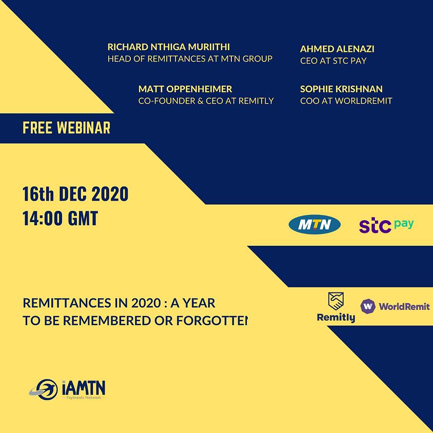 Webinar: Remittances in 2020