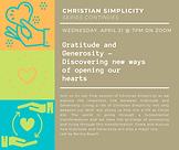 4_14_2021 Christian Simplicity Gratitude