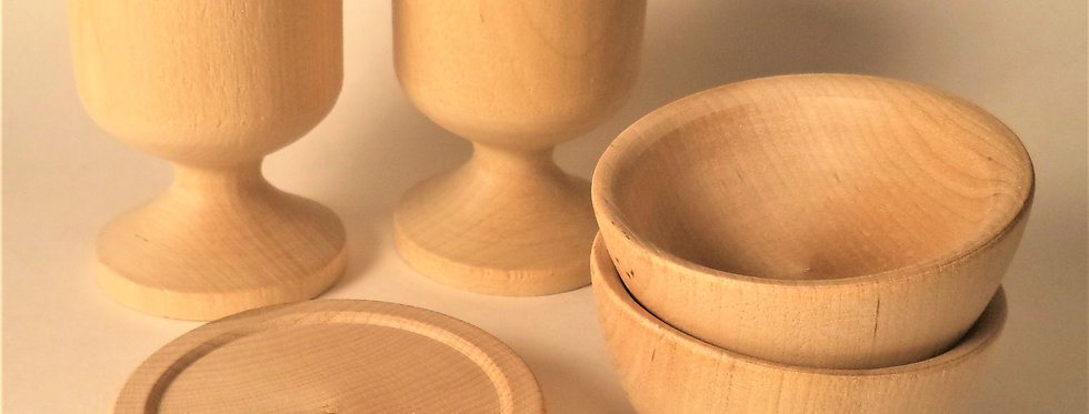 Wood Play Dishes