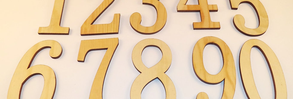 Wood Number Set