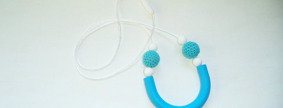 Mother's Silicone Teething Necklace Turquoise