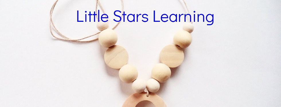 Mother's Teething Necklace Natural Wood