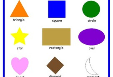 SHAPES - poster, matching, flashcards, and pre-writing