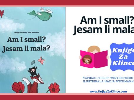 Jesam li mala? Am I small? -- Slikovnica za djecu na našem i na engleskom