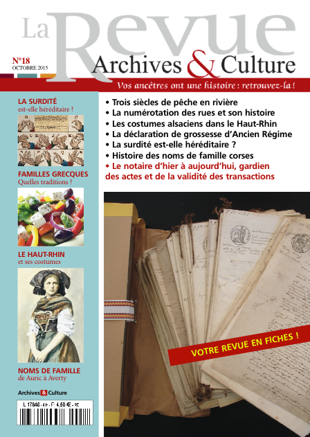Revue Archives & Culture n° 18