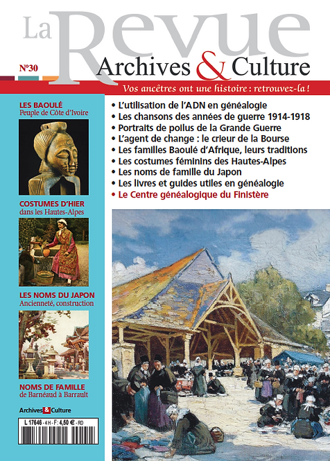 Revue Archives & Culture n° 30
