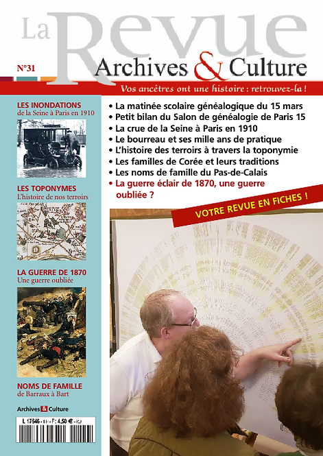 Revue Archives & Culture n° 31
