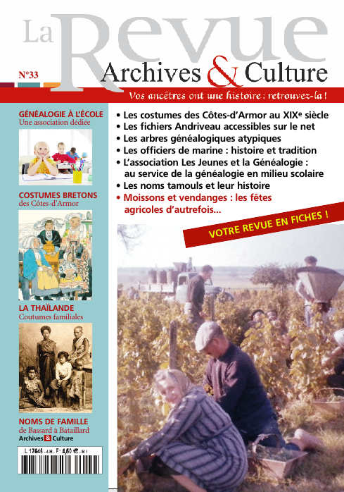 Revue Archives & Culture n° 33